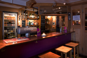 Our bar at Hotel Alpenblick in Grindelwald