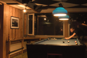 Billiard table for our bar visitors in the Hotel Alpenblick in Grindelwald
